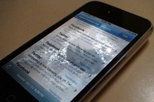 苹果手机进水屏幕有水印怎么办?